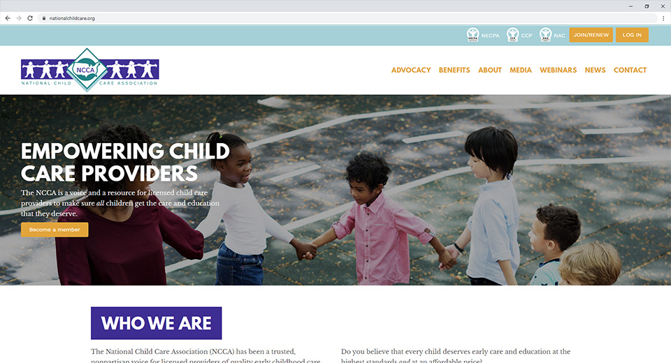 Featured work: National Child Care Association