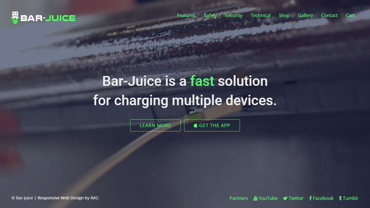 Bar Juice home page