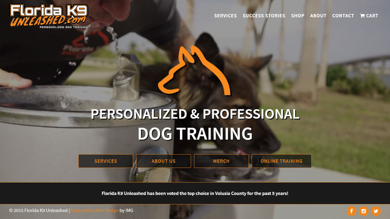 Florida K9 Unleashed home page