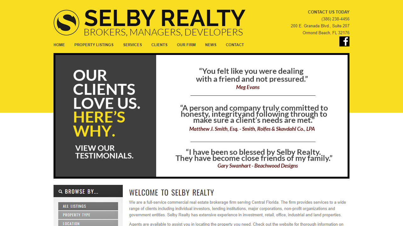 Selby Realty interior page